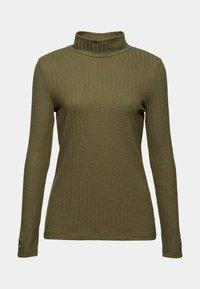 Esprit - HIGHNECK - Long sleeved top - dark khaki - 7