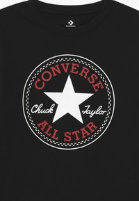 Converse - CHUCK PATCH LONG SLEEVE TEE UNISEX - Camiseta de manga larga - black - 2