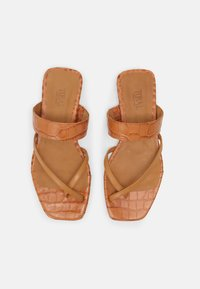 Toral - T-bar sandals - seta miel/coco cindy/marron - 4