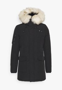 Maison Courch - ANCOLIE TECHNICAL PARKA - Vinterkåpe / -frakk - black/beige - 0