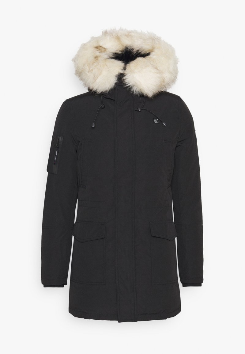 Maison Courch - ANCOLIE TECHNICAL PARKA - Vinterkåpe / -frakk - black/beige