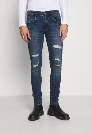LYON DESTROY - Skinny džíny - jet blue