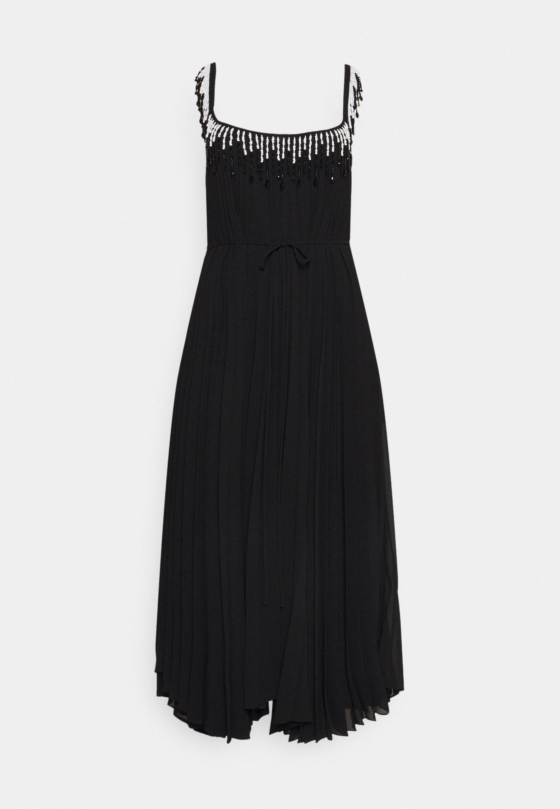Damen BEADED PLEATED DRESS - Cocktailkleid/festliches Kleid