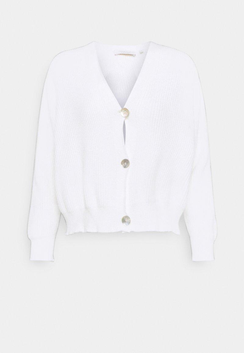 Rich & Royal - CARDIGAN SEAMLESS - Cardigan - pearl white