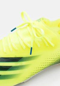 adidas Performance - X GHOSTED.1 FG - Kopačky lisovky - solar yellow/core black/royal blue - 5