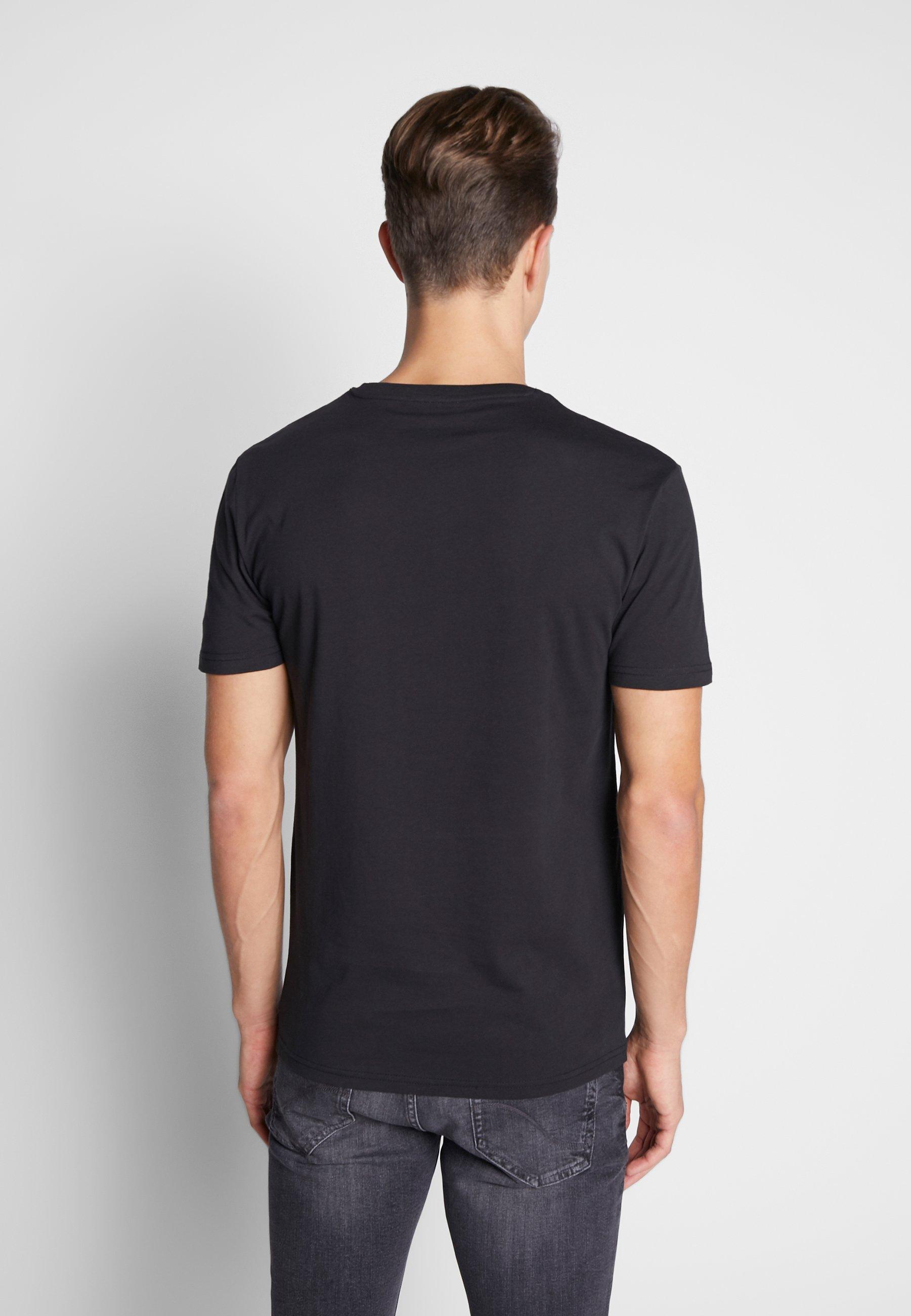 Pier One Print T-shirt - black QzZAg