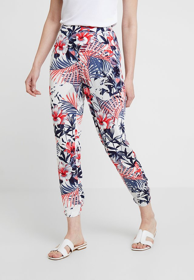 ELASTIC WAISTED PANTS - Pantalon classique - hibiscus