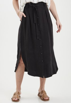DRJOHANNE 3 SKIRT - HIGH SLITS - A-line skirt - black