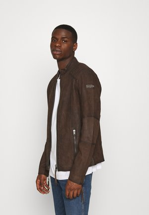 TOMAS BUFFED - Veste en cuir - brown