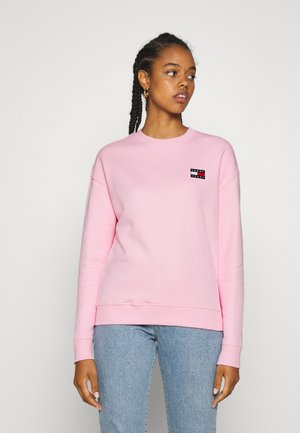 TOMMY BADGE CREW - Sweatshirt - romantic pink