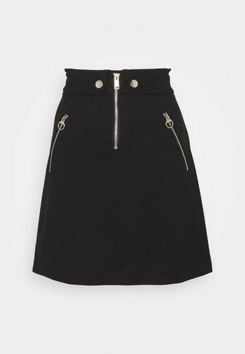 PORZIA SKIRT - A-line skirt - jet black