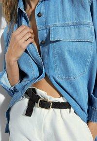 Massimo Dutti - Button-down blouse - blue - 2