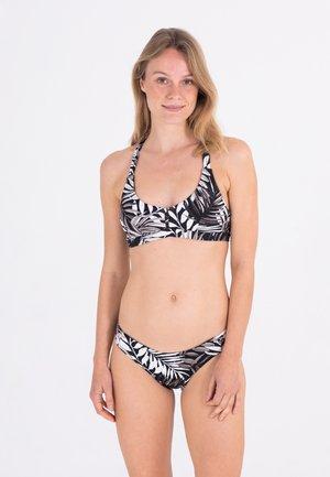 MAX PARTY PALM  - Bikini top - black/white/black