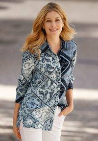 Laura Kent - Button-down blouse - marineblau mintgrün wollweiß - 1