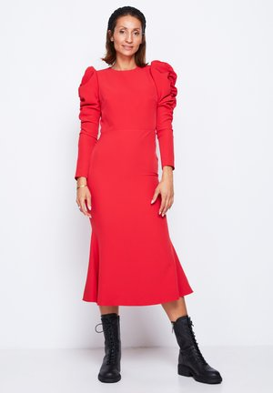PUFF SLEEVE  - Cocktail dress / Party dress - red