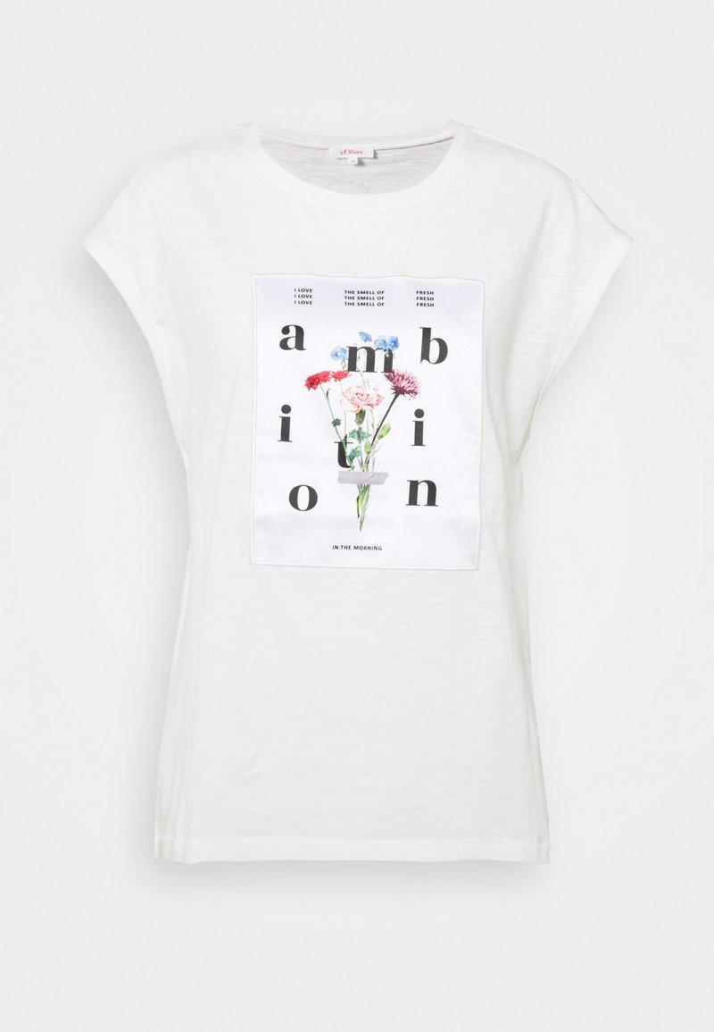 s.Oliver - T-shirts print - off-white