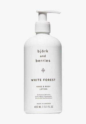 BJÖRK & BERRIES KÖRPERPFLEGE WHITE FOREST HAND & BODY LOTION - Liquid soap - -