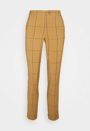 DUNA - Trousers - tobacco