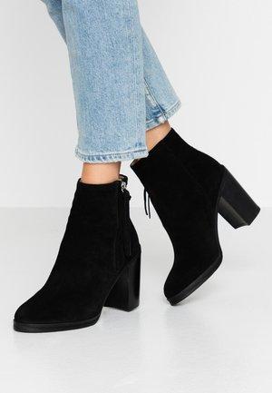 BRIDGE - High heeled ankle boots - black