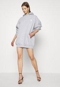 Missguided - PLAYBOY COWGIRL OVERSIZED HOODY DRESS - Day dress - grey - 1
