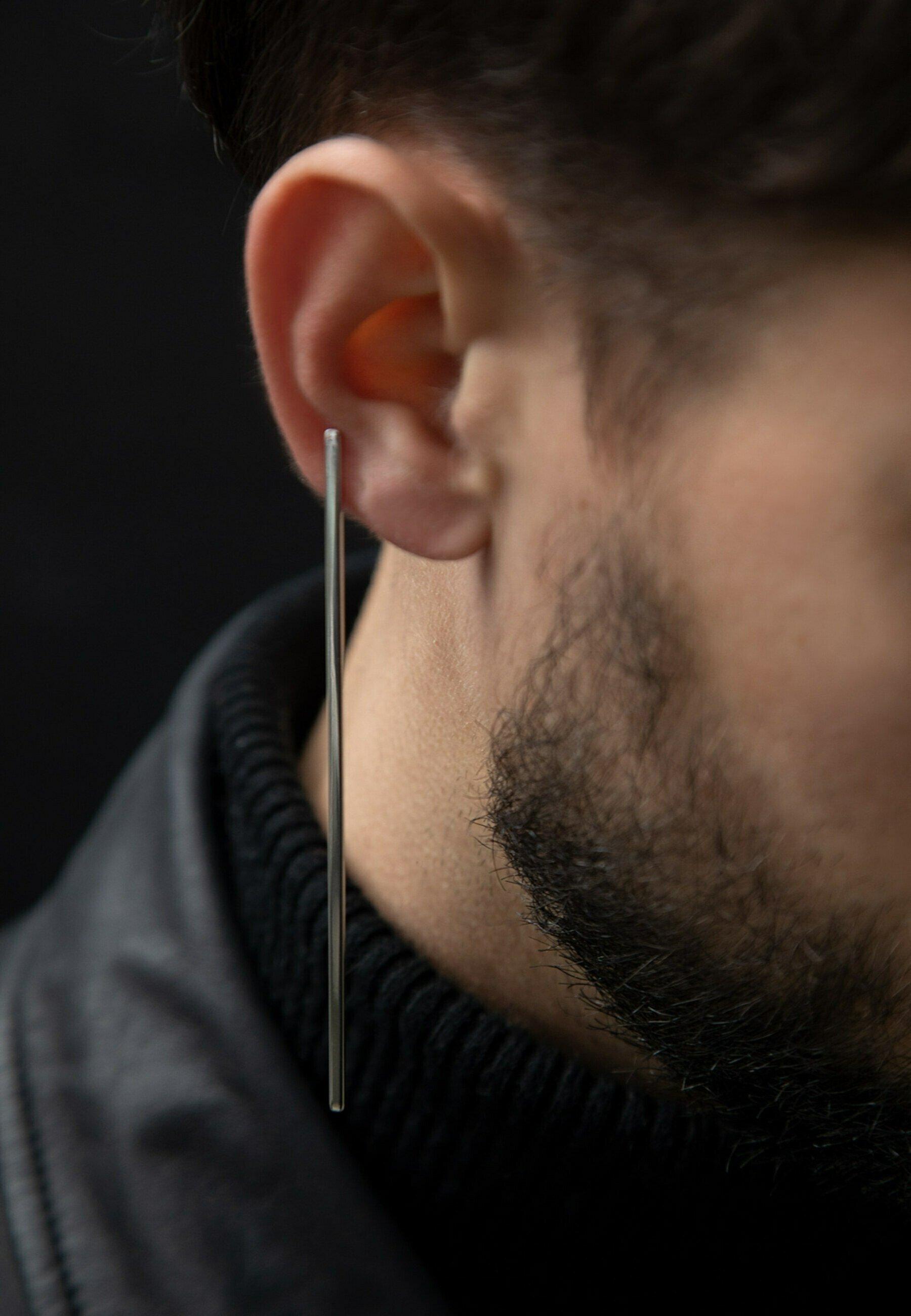 Homme BARRE  - Boucles d'oreilles
