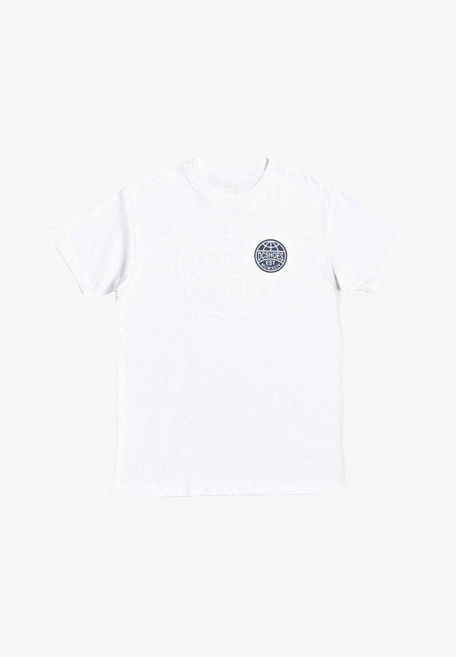 AROUND THE GLOBE EDYZT - Print T-shirt - white