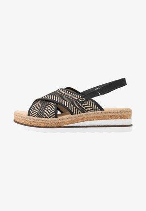 Platform sandals - schwarz/natur