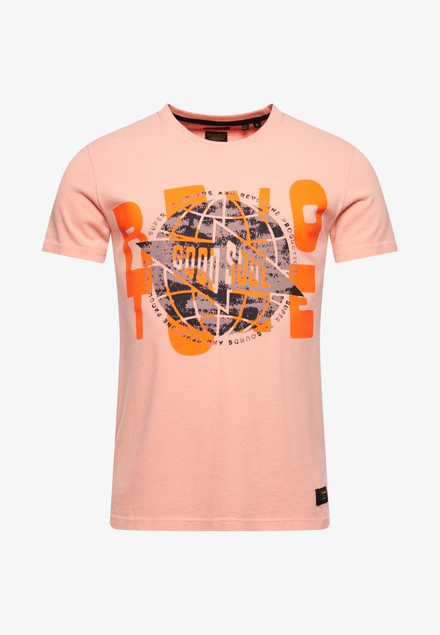 MOTOWN & SOUL - Print T-shirt - antique peach