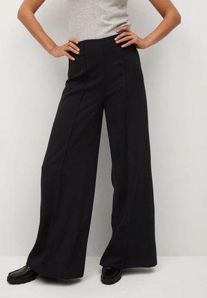 JUSTOC - Pantalon classique - noir