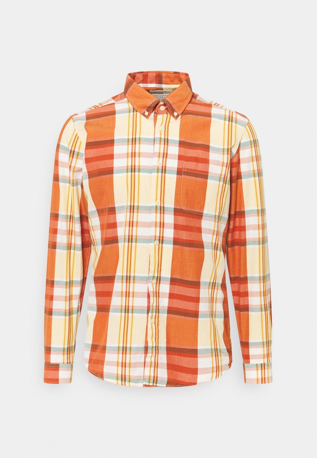 MOD BUTTON DOWN RINCON CHECK - Shirt - orange