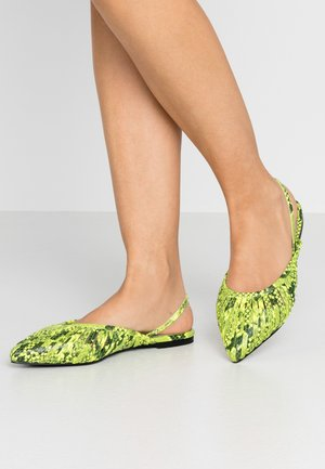 ZONE - Slingback ballet pumps - neon yellow