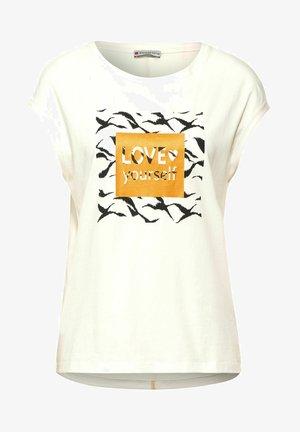 MIT WORDING - Print T-shirt - weiß
