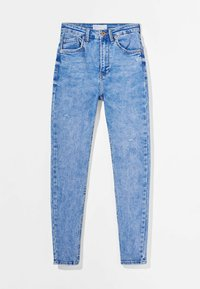Bershka - SUPER HIGH WAIST - Jeans Skinny Fit - blue - 5