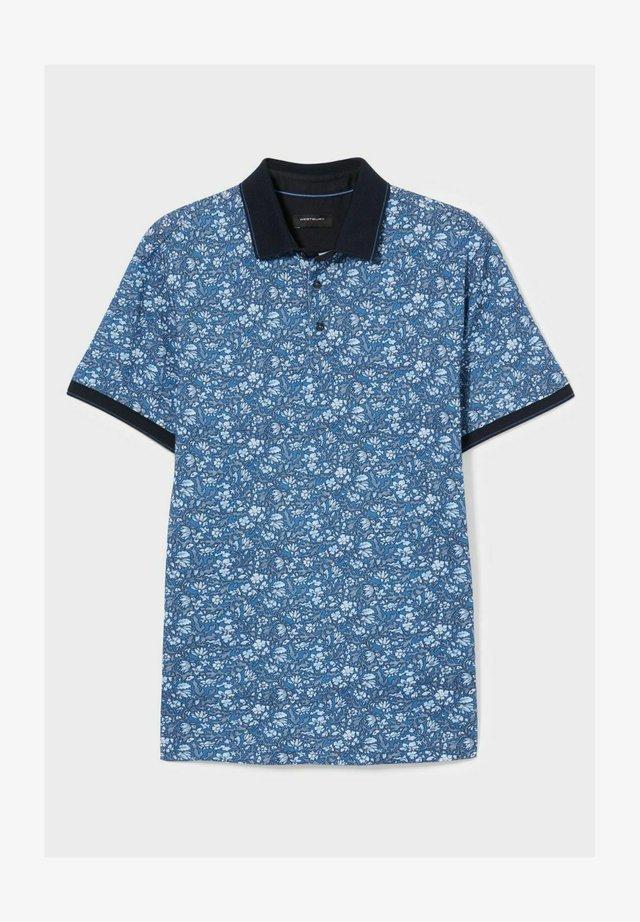 Poloshirt - blau-dunkelblau