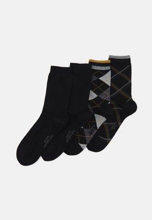 WOMEN SOCKS 4 PACK - Socken - black