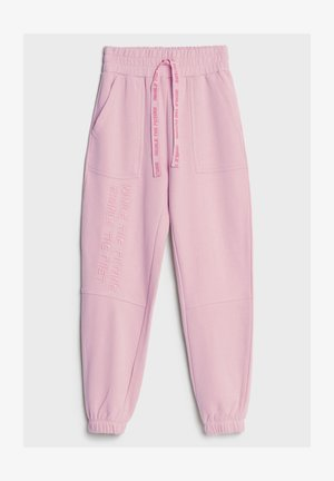 MIT STICKEREI - Jogginghose - pink