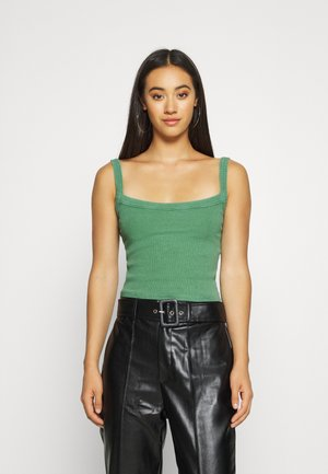 CROPPED TANK - Topper - juniper green