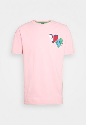 LUV THE WORLD TEE UNISEX - Print T-shirt - iced rose