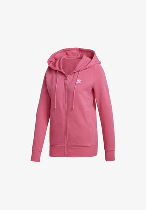 TREFOIL SPORTS INSPIRED SLIM TRACK TOP - veste en sweat zippée - pink