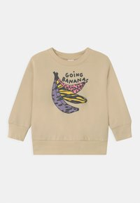 Lindex - MINI GOING BANANAS UNISEX - Sweatshirt - light beige - 0