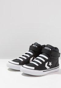 Converse - PRO BLAZE STRAP - High-top trainers - black/white - 3