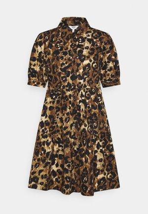 OBJROSITA DRESS - Skjortklänning - sepia