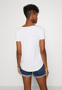 Hollister Co. - EASY BASIC 3 PACK - Basic T-shirt - white/black/burg - 3