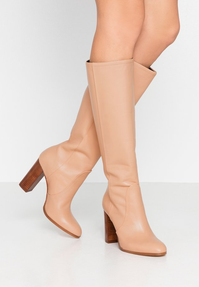 SILONI - High Heel Stiefel - nude