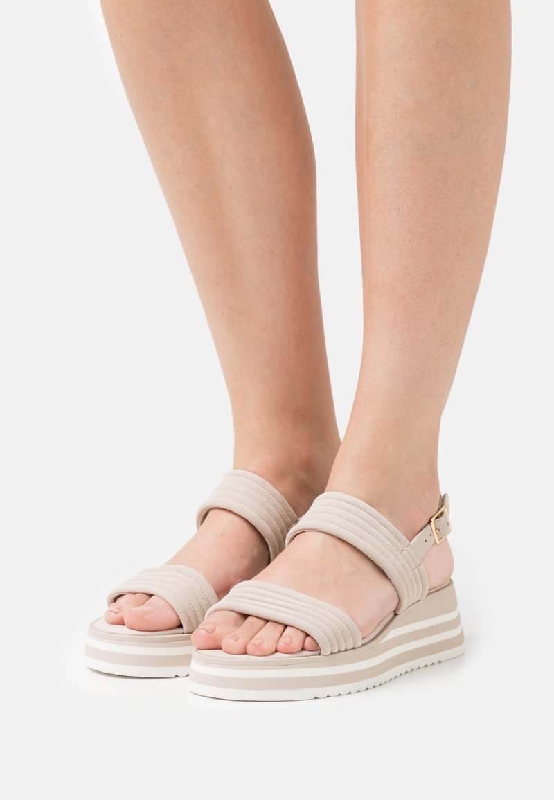 Tamaris - Platform sandals - ivory