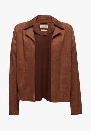 Imitatieleren jas - brown