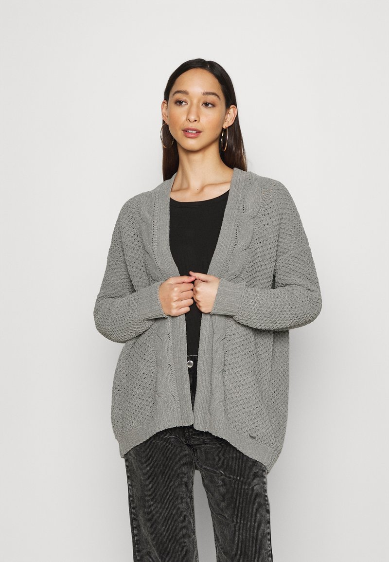 Hollister Co. - MATTE CHENIILE  - Cardigan - dark grey