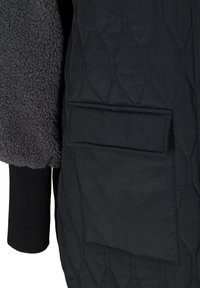 Zizzi - QUILTED TEDDY  WITH POCKETS - Down coat - black comb - 7
