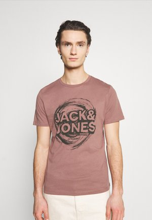 JORDUSTY TEE CREW NECK - Print T-shirt - rose taupe