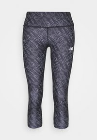 New Balance - PRINTED ACCELERATE CAPRI - Pantalon 3/4 de sport - black - 5